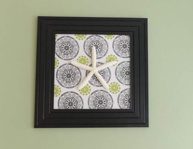 Nautical Art from a Kitchen Towel ~ * THE COUNTRY CHIC COTTAGE (DIY, Home Decor, Crafts, Farmhouse)