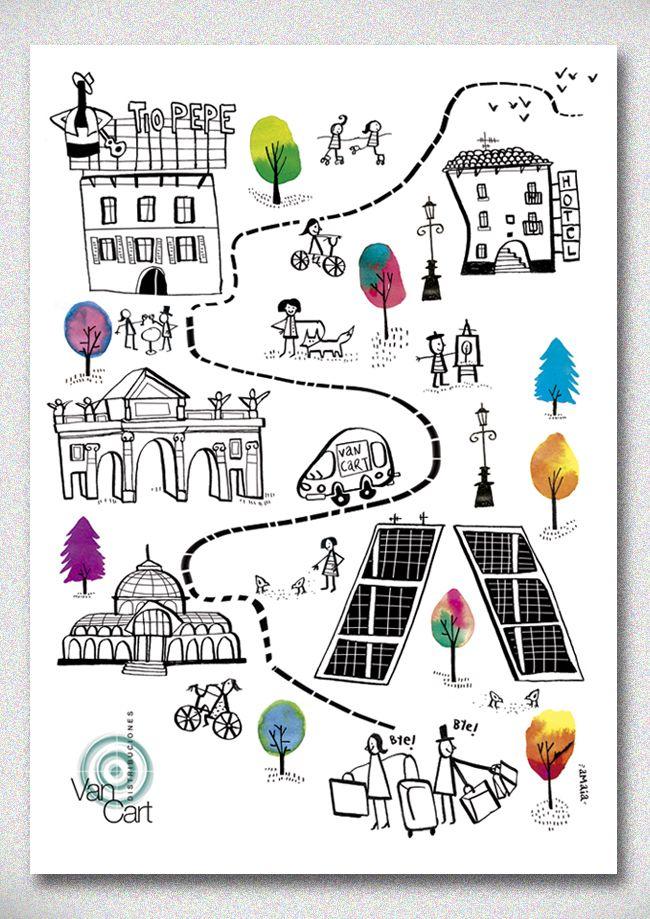 Madrid for Vancart agendas 2013 - amaia arrazola illustration