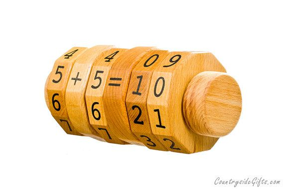 Math Spinner Learning Toy Addition by countrysidegiftsllc on Etsy, $24.95