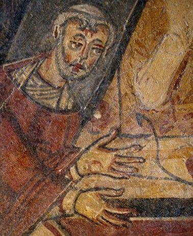 Affreschi dell'abbazia di San Vincenzo al Volturno. Il secondo quarto del IX secolo. Esempio del movimento pittorico longobardo beneventano, sono opera di artisti anonimi legati alla Scuola di miniatura beneventana, realizzati nel secondo quarto del IX secolo.