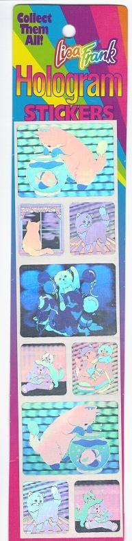 lisa frank hologram stickers!!
