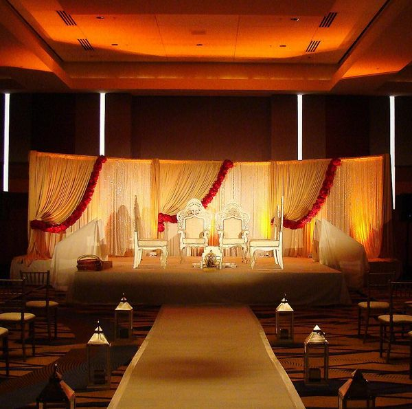 Wedding Altar Rentals Atlanta: Custom Mandap And Stage Set For An Indian Wedding At The
