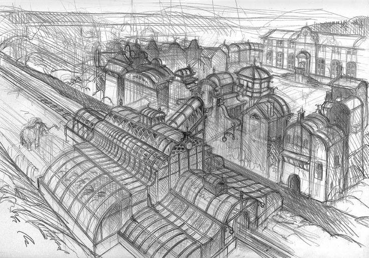 Benoit Sokal's Syberia sketches