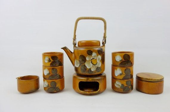 Vintage Waechtersbach Stoneware Tea Set Golden Brown by oppning https://www.etsy.com/listing/223152011/ €120