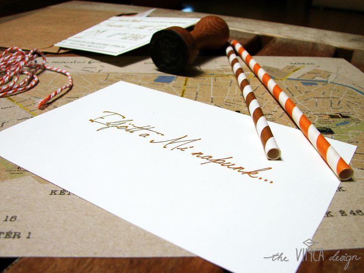 Vinca DesignVinca Design, rustic wedding, wedding invitation suite, wedding stationery, info card // rusztikus esküvő, esküvői meghívó, útmutató
