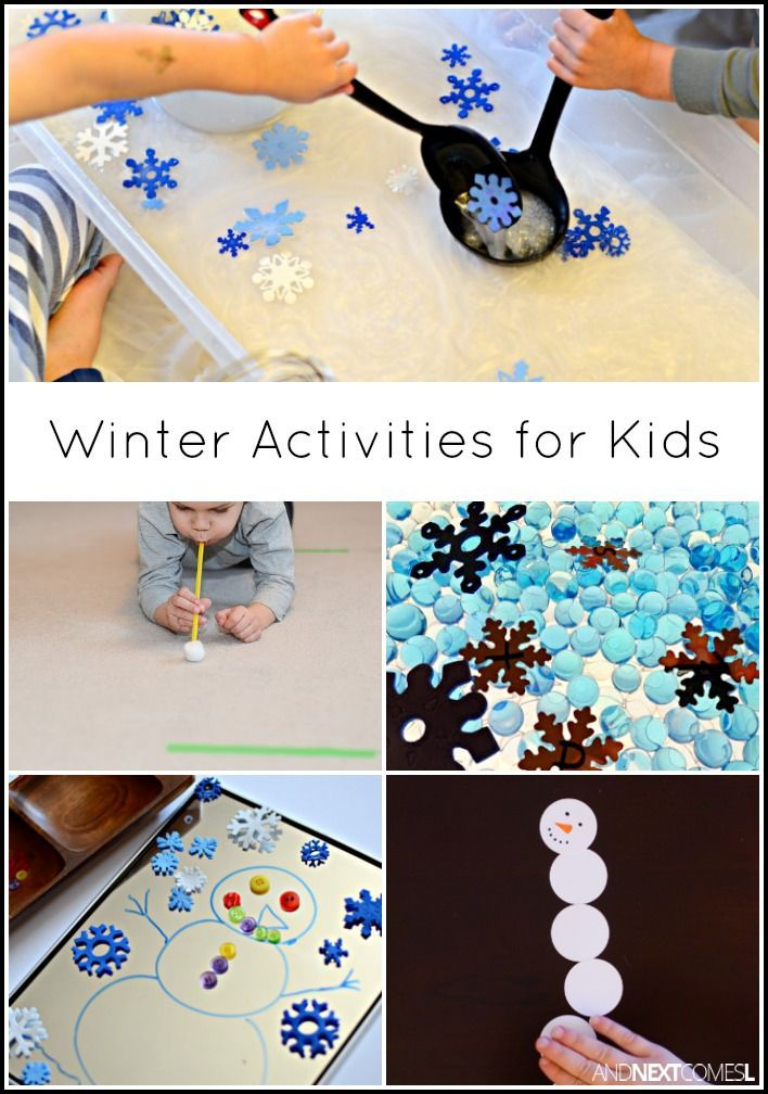 Winter themed activities and crafts for kids from And Next Comes L
