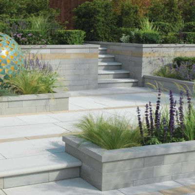 Stonemarket Avant Garde Walling is precision cut sandstone with a blasted…