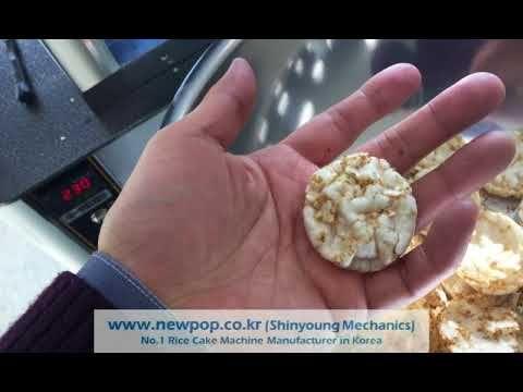 Test of Quinoa 20%, Rice 80% by SYP4506 Rice cake machine