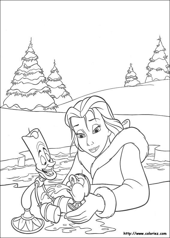 264 best beauty and the beast coloring pages images on Pinterest