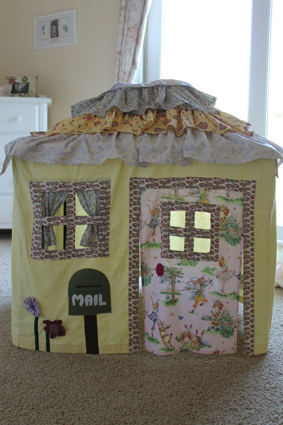 Adorable Cottage Style Card Table Playhouse