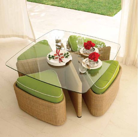 Contemporary Outdoor Furniture by Gloster - the Sushi outdoor collection | Patio Furniture