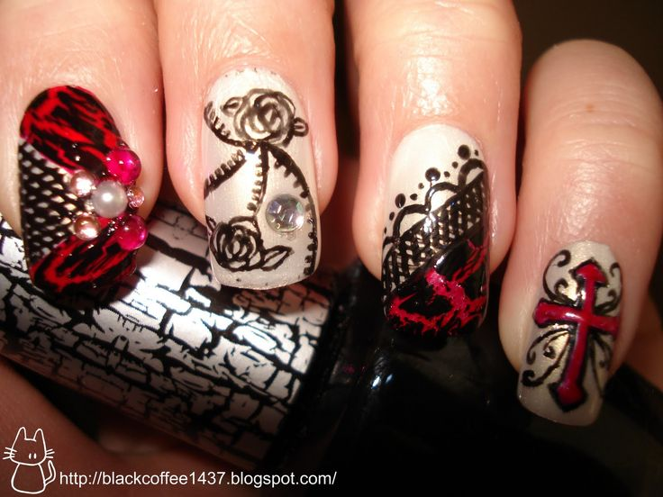 17 best images about nails on pinterest nail art nail for Gothic painting ideas