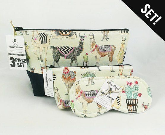 NEW!  Llama & Cactus Toiletry Bag  Set.  Just listed: http://ift.tt/1LMhqo9  #shaving #toiletrybag #llama #llamas #etsy #etsyshop #fireboltcreations #cactus #vacation #travel #etsyseller #alpaca #alpacas #cacti #love #succulent #doppkit #woman #gift #giftideas #gifts #handmade #womeninbusiness #easter #zipperpouch #boho #friday #shopping #handcrafted