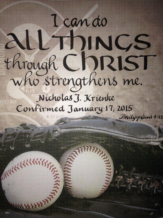 Confirmation Gift Boy Baseball Verse Custom By