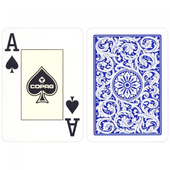 COPAG poker kaarten 100% Plastic Poker. Double Deck pokwer kaarten, international Giant Faces en compatibel met alle bestaande speelkaarten schudmachines. COPAG, de officiële leverancier van de World Series of Poker.