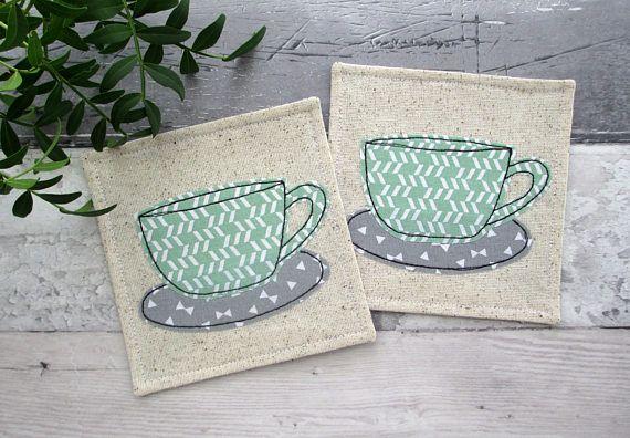 Cup Coasters Fabric Coasters Housewarming Gift Hostess