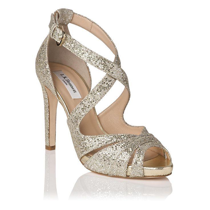 Megan Glitter Suede Platform Sandal | Sandals | Shoes | L.K.Bennett, London