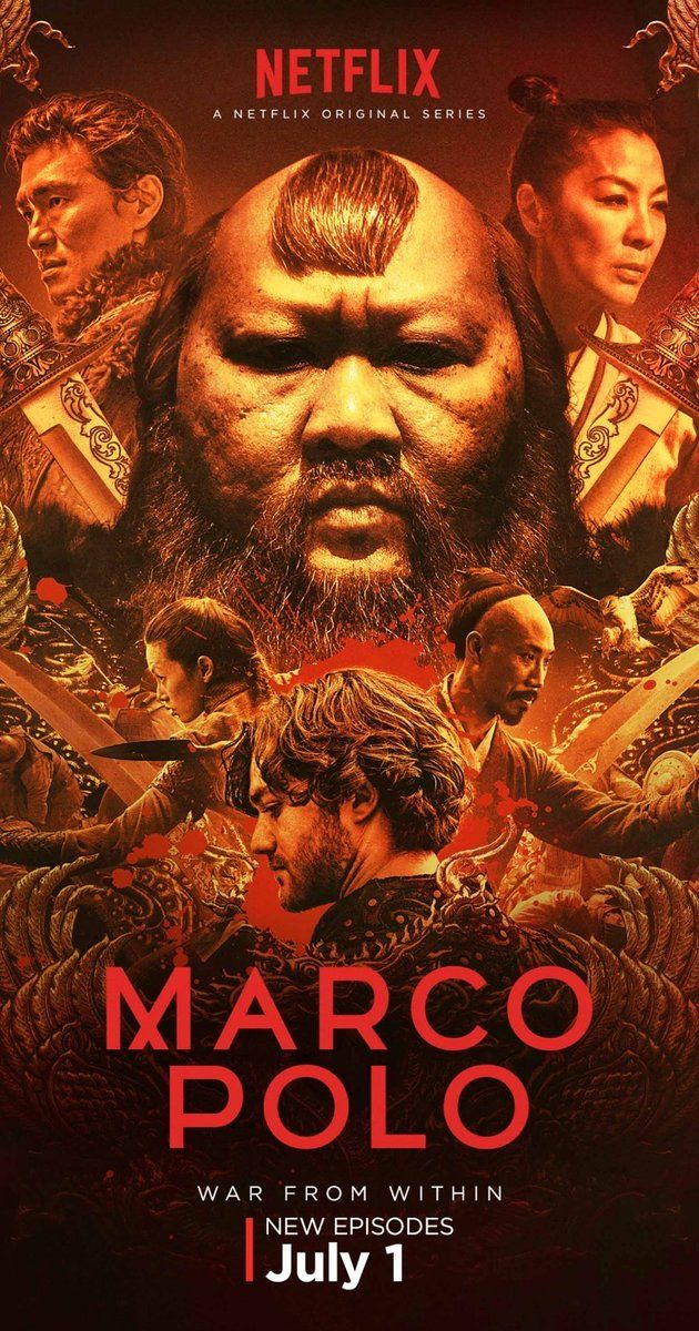 "Sorry Netflix dropped this show. I was looking forward to another season.   Created by John Fusco. With Benedict Wong, Olivia Cheng, Joan Chen, Zhu Zhu. In a world replete with greed, betrayal, sexual intrigue and rivalry, ""Marco Polo"" is based on the famed explorer's adventures in Kublai Khan's court in 13th century Mongolia."