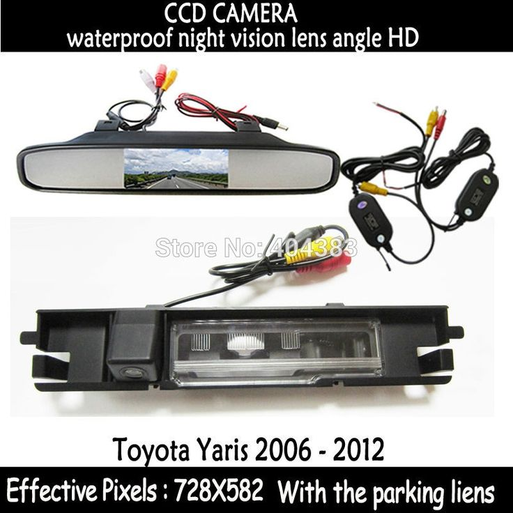 """(47.29$)  Watch here  - """"WIireless Car LCD Monitor 4.3""""""""  Color L Monitor Car Rearview Backup Camera for Car Rear view Camera for Toyota Yaris 2006 - 2012"""""""