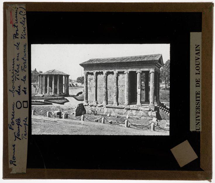 EuropeanaPhotography: Roma. Foro Boario. Tempio di Ercole Vincitore (1) en Tempio di Portuno (2)