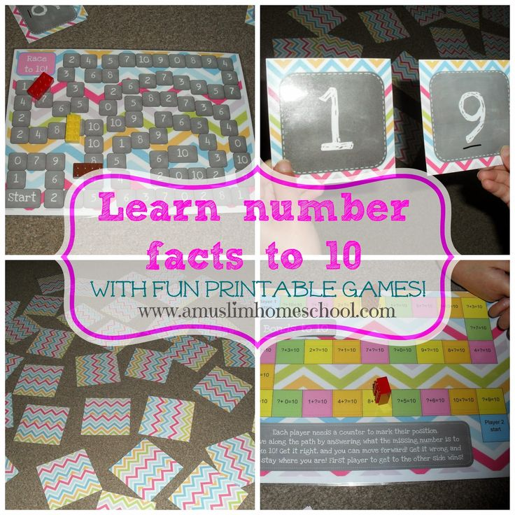 Enjoyable Free Printable Math Games To Learn Number Facts Bonds To 10 Easy Diy Christmas Decorations Tissureus