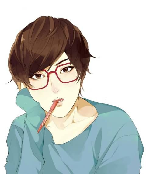Dirga use glasses, manga, cool, ikemen <3