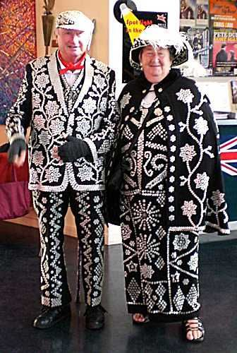 A Pearly King and Queen, London, England.