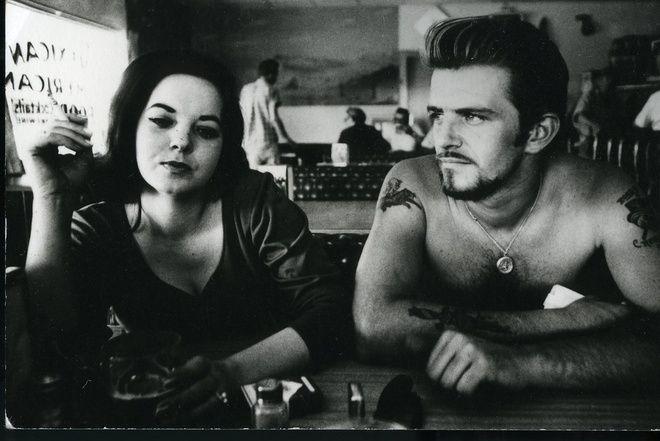 Dennis Hopper, Biker Couple, 1961 at www.meadcarney.com  #DennisHopper #MeadCarney #London #art #artgallery #Photography