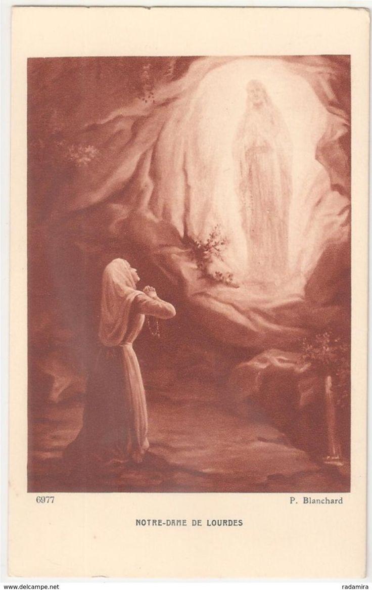 """Carte Postale Ancienne """"NOTRE-DAME DE LOURDES"""" - P. Blanchard - Bouveret - Salon de Paris - France."""