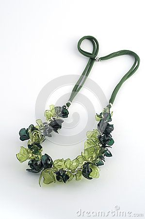 Ecojewelry necklace from recycled plastic bottles