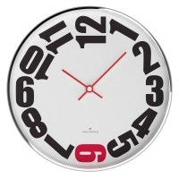 Polished Chrome Steel 30cm Wall Clock by oliver hemming