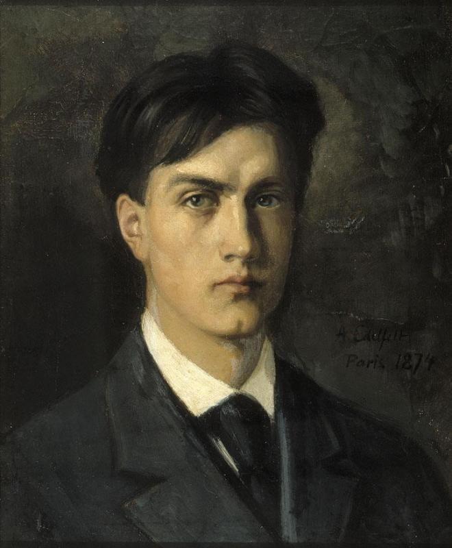 Albert Edelfelt, self-portrait. (1874).