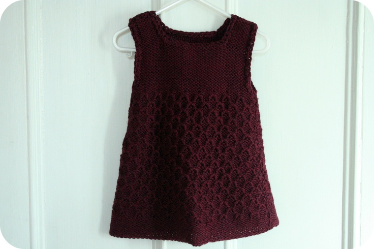Hand Made Knit Dress - Wool, Natural, Safe and Eco Friendly. $40.00, via Etsy.