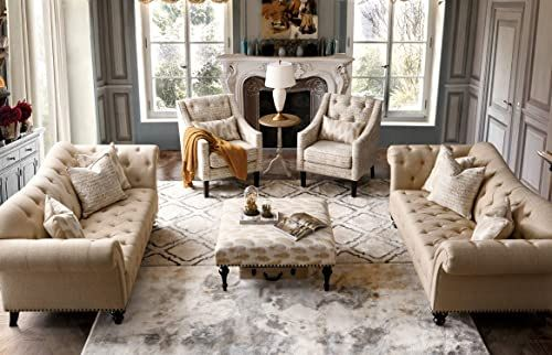 Best Seller Acanva Luxury Chesterfield Vintage Living Room Family Sofa Couch Beige Online Findandbuytopstyle In 2020 Beige Sofa Living Room Luxury Sofa Vintage Living Room