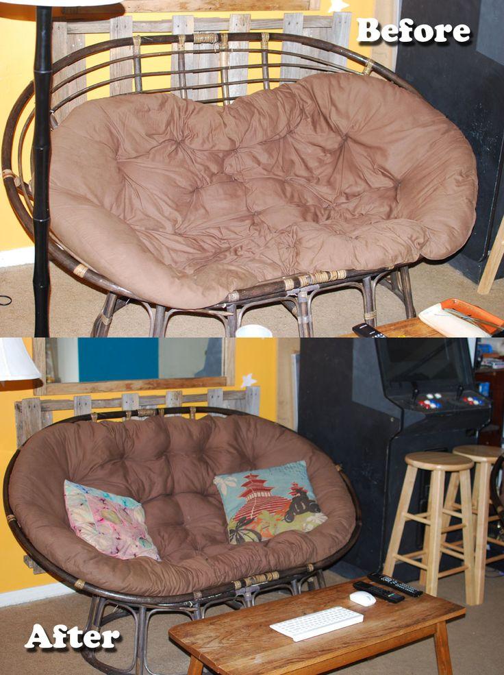 Papasan Cushion Restuff  Good to know for my free papasan