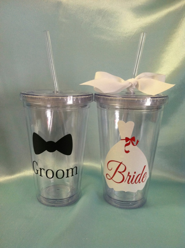 Alicia, we could make these for you and Chris! Could use my Cricut!