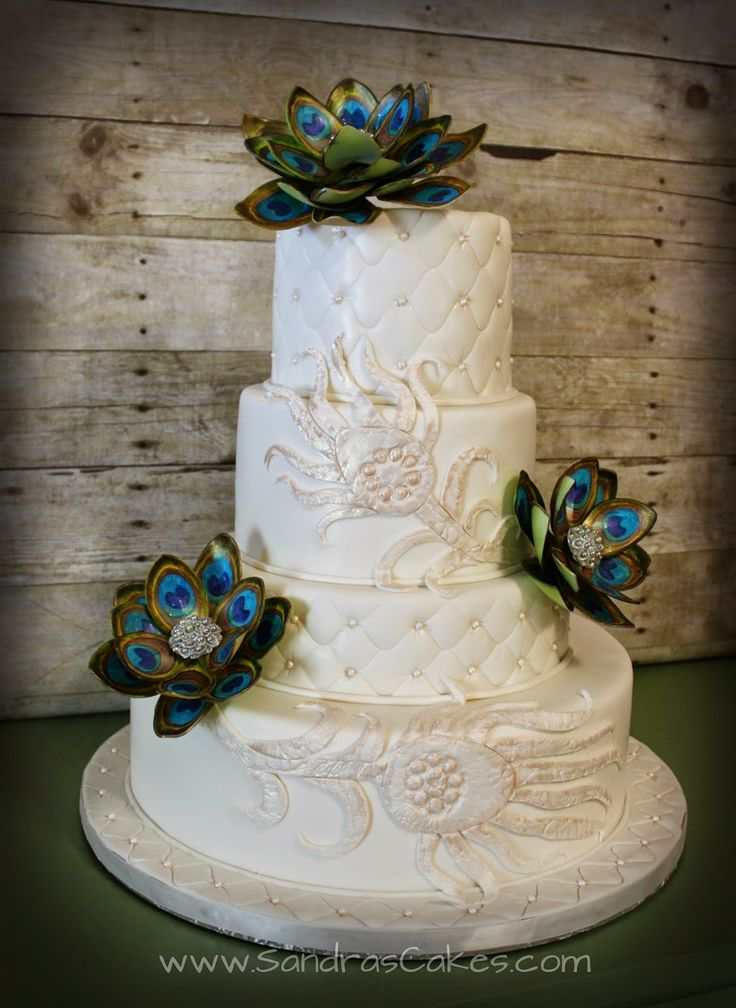 peacock wedding cakes designs 17 best images about peacock wedding amp bridal shower ideas 18160
