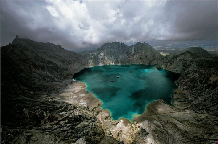 Finally, the trail ends at about 50 concrete steps and the first view of Lake Pinatubo.