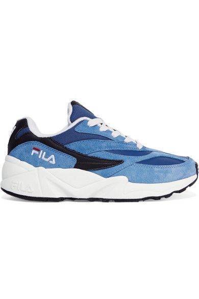 ca76b962 FILA | 94 suede, leather and canvas sneakers | NET-A-PORTER.COM ...