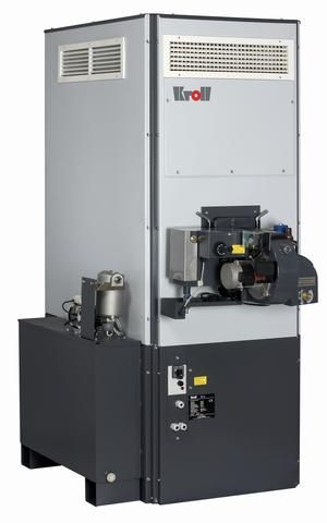 The Kroll SZ waste oil heaters are available from 40kW to 200kW in a broad range of sizes, flow rates of air and air pressure options for ducting needs.