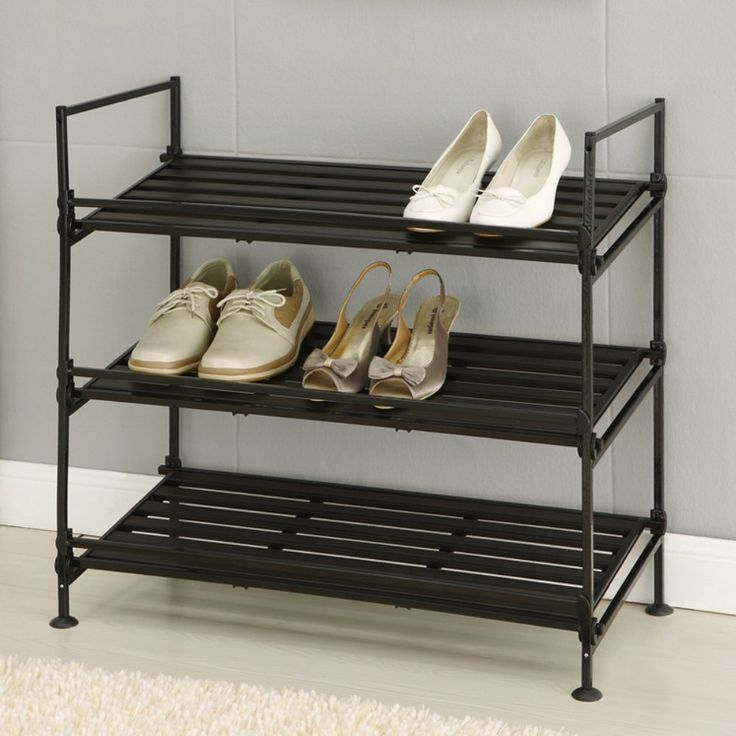 Organize It All 3 Tier Shoe Rack About Organize It All With Masterful Designs Using Top Quality Mate Stackable Shoe Rack Shoe Rack 3 Tier Shoe Rack