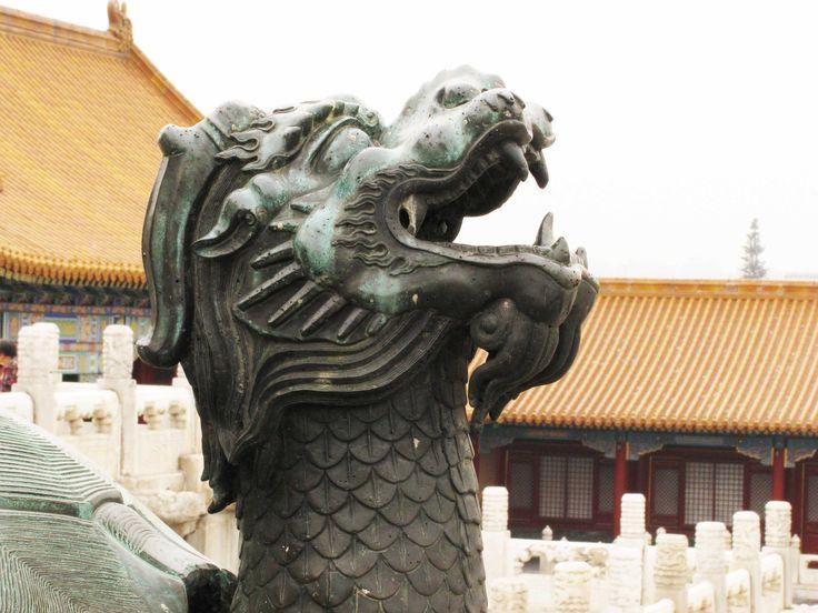beijing - forbidden city - turtle dragon detail