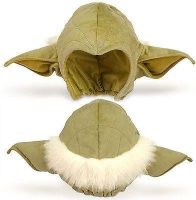 Disney Store STAR WARS Jedi Master YODA Costume Cosplay Green EARS HAT Cap KIDS