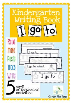 This resource will help you sequence a whole week of writing for your early writing lessons. Print the pages and make each of your students their own mini writing book for the week.