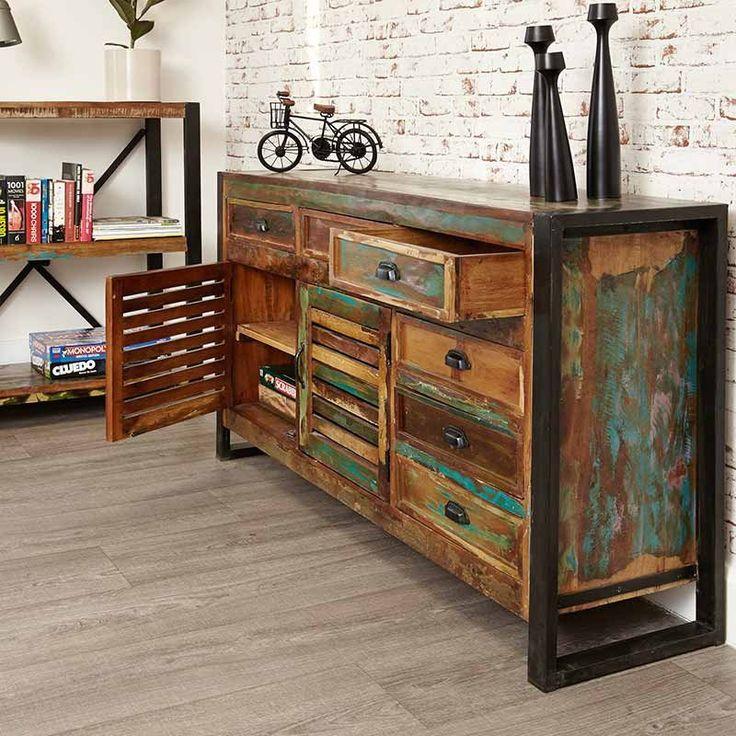 Urban Chic Reclaimed Wood Large Sideboard -  - Sideboard - Baumhaus - Space & Shape - 5