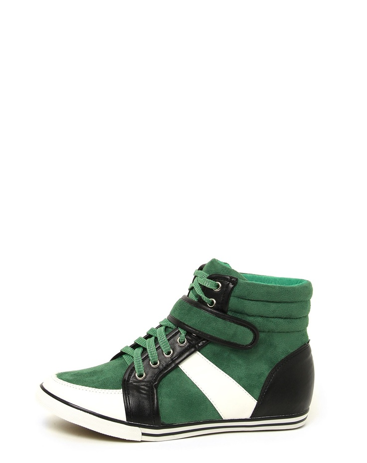 Sport Luxe Green Trainers