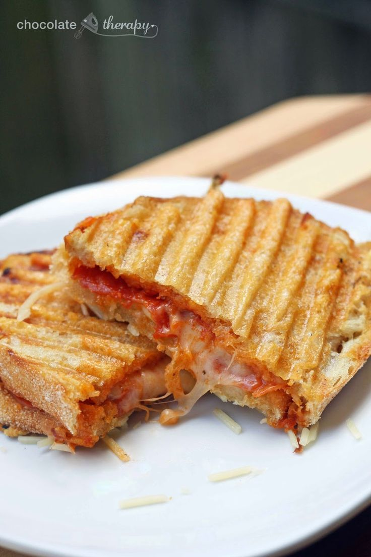 Parmesan Crusted Pizza Panini from Chocolate Therapy