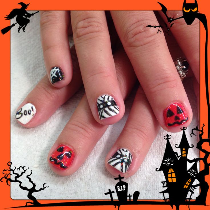 32 best shellac nails images on pinterest shellac manicure halloween shellac nail art prinsesfo Choice Image