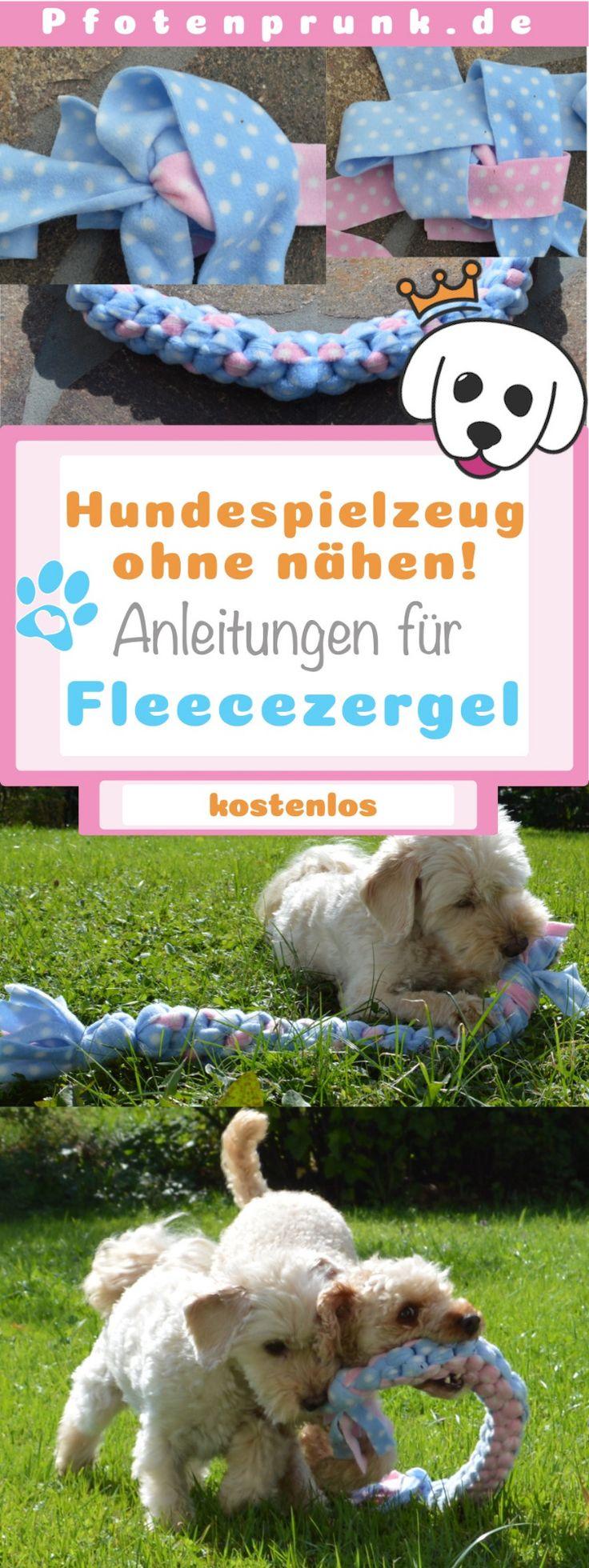 Zergel Hundespielzeug einfach selbermachen – ♥ Pfotenprunk DIY – Anleitungen für Hunde (Hundehalsband, Geschirr, Leine, Basteln, Nähen, Betten, Halsband)