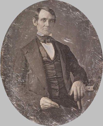 Earliest known daguerreotype of Abraham Lincoln (1846)
